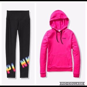PINK Perfect pullover/Leggings large
